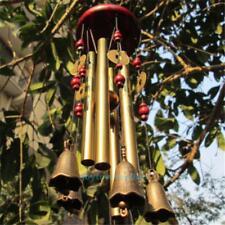Windspiel Klangspiel mit 4 Klangröhren Bronze Holz FengShui Garten Haus Deko