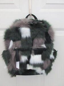 Vera Bradley Faux Fur Leighton Mini Backpack Siberia Brand New NWT