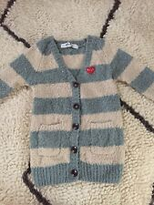 play comme des garcons Striped Boucle Cardigan S XS