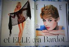 Magazine ELLE Brigitte Bardot