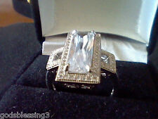 EMERALD CUT 7CTW LCS DIAMOND COCKTAIL ANNIVERSARY RING SZ 9 LAST 1 LEFT + GIFT