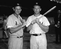 St Louis Cardinals STAN MUSIAL New York Yankees MICKEY MANTLE Glossy 8x10 Photo