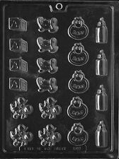 BABY DECOS BITE SIZE CHOCOLATE CANDY MOLD SHOWER DIY PARTY FAVOR CUPCAKE TOPPERS