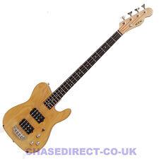 Shine Telecaster Electric Bass Guitar SBA-724 Humbucker Pickups Natural 4 String
