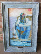 ART Oil On Canvas SIGNED W.R. THOMPSON Dated 1965 Listed Artist SUPER FRAME TOO!