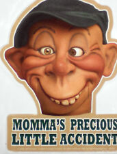 "JEFF DUNHAM BUBBA J MOMMA'S PRECIOUS LITTLE ACCIDENT STICKER 3 3/8""X 4 3/8"" NEW"