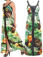 DESIGUAL MAXI Dress BULGARIA Green Print - FREE P&P - SIZES 8 TO 16. RRP £89