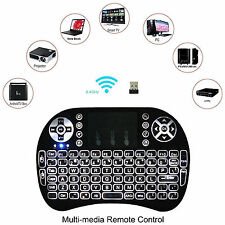 LED Backlight Mini i8 Wireless 2.4GHz Keyboard Remote Control Touchpad PC TV US