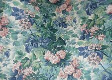 LAURA ASHLEY ASHBOURNE BLOUSON TAILORED VALANCE GREEN PINK BLUE FLORAL17 X 84