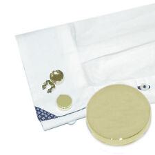Brazalete Chapado en Oro Liso Botón cubre
