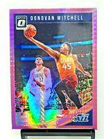 2018 Optic PINK HYPER PRIZM Refractor Jazz DONOVAN MITCHELL Basketball Card MINT