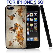 Grunge World Map For Iphone5 5G Case Cover