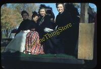 Victorian Women Fashion 1940s 35mm Slide Vtg Red Border Kodachrome Neillsville