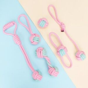 Fabric Knotted Rope Chewing Toy Set for Dogs Puppy Play for Addressive Chewers