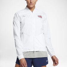 Nike (Great Britain) Damen Lauf Jacke Weiß Running Jacket aa2061-101 Neu Gr.L
