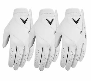 Callaway Mens Tour Authentic Golf Glove Left Hand (3-Pack) - New 2021