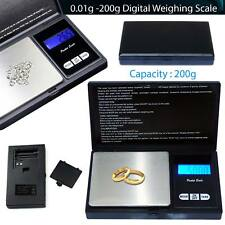 Small mini pocket digital electronic weighing weight scale 0.01g-200Gram UKstock