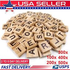 500pcs Wooden Letters Alphabet Scrabble Tiles Letters For Game &Crafts US Stock