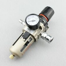 1/4'' In Line Particulate Air Filter Water Trap Regulator Separator Compressor