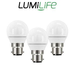 Lumilife B22 LED Light Bulbs 5W GLS Golf Ball Candle Cool Warm Daylight Dimmable
