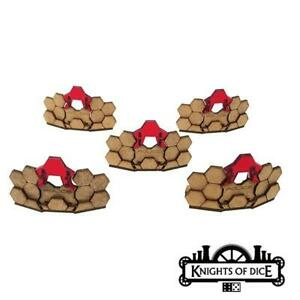 Knights of Dice Sci-Fi Terrain 28mm Police Riot Barriers Pack New