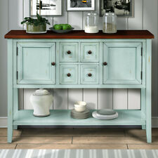 Sideboard Buffet Storage Cabinet,Wood Sideboard Table with 4 Drawers