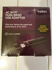 AC Wi-Fi Dual Band USB Adapter Belkin Works with all wifi router brands