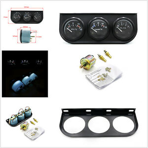 52mm Car SUV Oil Temp Pressure Meter + Water Temperature Gauge Pointer Meter Kit