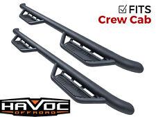 Havoc HS2 Black Hoop Truck Steps 14-18 Chevy Silverado GMC Sierra Crew Cab