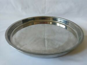 Large Lalit Stainless Steel Tray India Circular 36cm 3.5cm high
