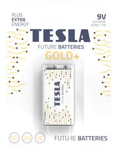 Tesla Batteries -Gold+ Alkaline Battery -9V- 6LR61/9V -PP3- Heavy Duty Battery