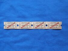 Vintage 85 Cent Circle Theatre Tickets (Strip of 4) Drive-In Movie/Cinema - LA