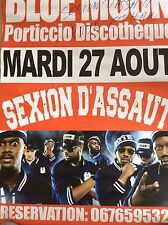 SEXION D'ASSAUT: POSTER AFFICHE CONCERT AVEC AUTOGRAPHE MAÎTRE GIM'S