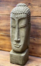 STONE GARDEN EXTRA LARGE BUDDHA HEAD STATUE DETAILED ORNAMENT GIFT