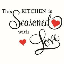 """""""This Kitchen Seasonedwith love"""" Wall Quote Removable DIY Wall Sticker Decor LG"""