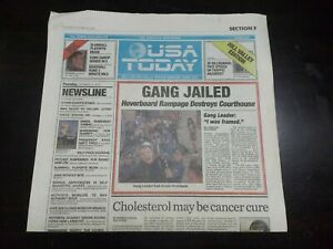 BTTF Back to the Future Part 2 USA Today Newspaper Prop 2015 Gang Jailed