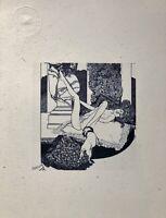 """Erotische Graphik Marquis de Bayros """"Tantalus""""1908 Erzählungen am Toilettentisch"""