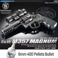 Academy SW M357 MAGNM BB Pistol Airsoft 6mm Shot Gun+BB 400ea Military Kit 17220