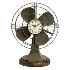 Imax Thatcher Vintage Fan Clock, Grey
