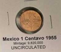 Mexico -  1 CENTAVO 1955 - UNCIRCULATED