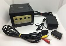 Nintendo GameCube Jet Schwarz Spielekonsole | inkl. Kabel