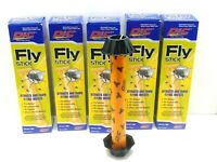 LOT OF 5 PIC FLY STICKS pre-baited no vapors attracks and traps flying insects