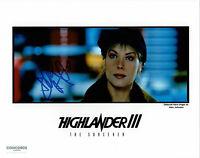 Deborah Kara Unger -  Highlander III  - original handsigniertes Großfoto