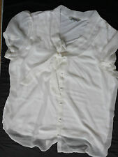 Women's PEACOCK top  blouse ivory color size 18 BNWOT