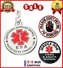 New Listing3 Pcs Dogs Esa Tag Service Dog Patches, Esa Collars, Harness & Vest Tag