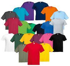 Fruit Of The Loom Mens Original Full Cut Plain Rib Crew Neck T-Shirt