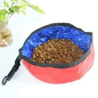 Travel Pet Bowl Water Food Portable Dog Drink Dish Cat Water Feeder Folding S7K0