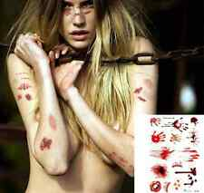 Halloween Zombie Scars Tattoos With Fake Scab blood Special Costume Make-Up