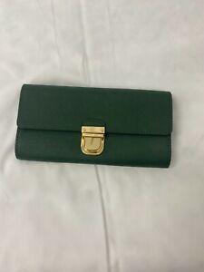 Michael Kors Green Flap Wallet