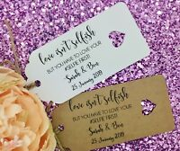 Selfie Stick Instructions Gift Tag Wedding Favour Guest Label